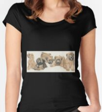 Soft-coated Wheaten Terrier Puppies Women's Fitted Scoop T-Shirt