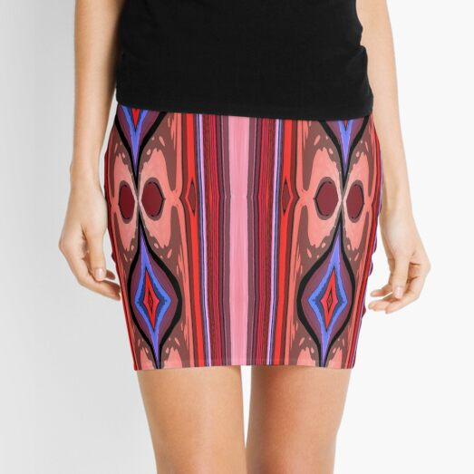 Abstract Lines Mini Skirt