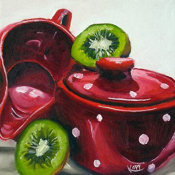 Kiwi and Kitchenware by juliakapp