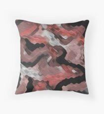 Marsala in Motion Throw Pillow
