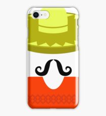 Hat Mustache Poncho  Isolated on White Background iPhone Case/Skin