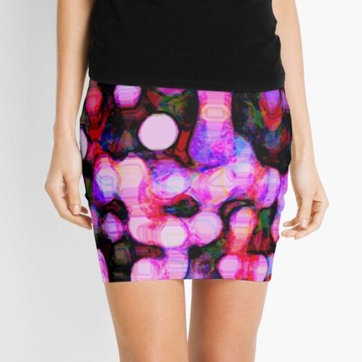 Trois . THE PINK NIGHT SKY- FEATURING MOLTEN COLOURS IN A RANGE OF GRAPHIC PINKS  Mini Skirt