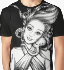 Girl with Octopus Graphic T-Shirt