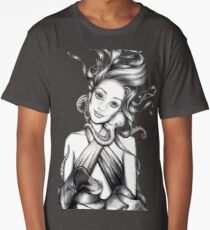 Girl with Octopus Long T-Shirt