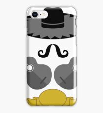 Mexican Guitars Hat Mustache on White Background iPhone Case/Skin