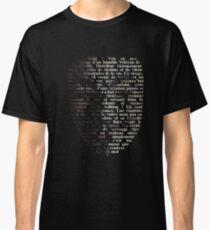 V for Vendetta - Call me V Classic T-Shirt