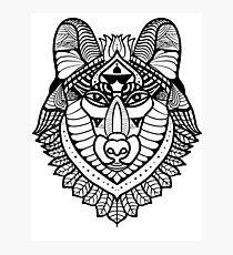 Entangle design wolf image Photographic Print