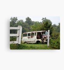 Vintage VW in Rain Canvas Print