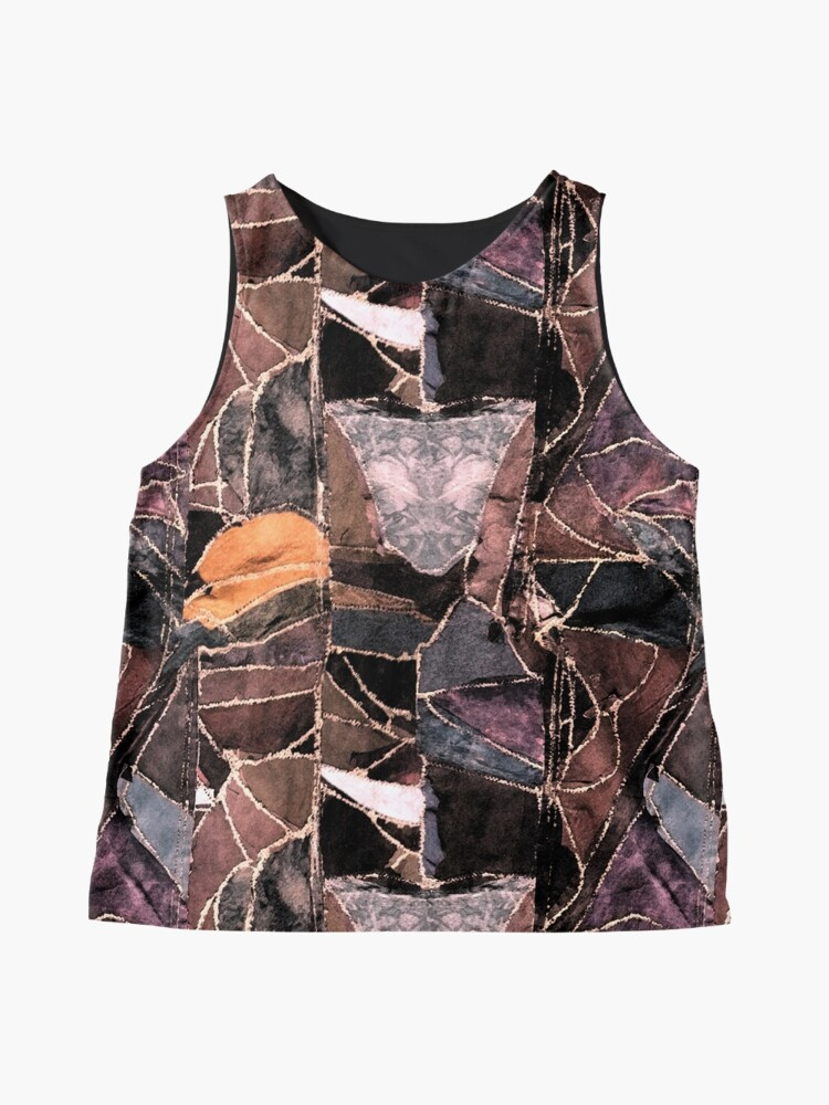 Alternate view of leather patches Sleeveless Top