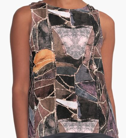 leather patches Contrast Tank