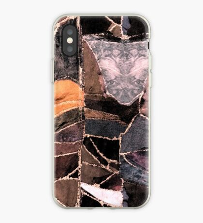leather patches iPhone Case
