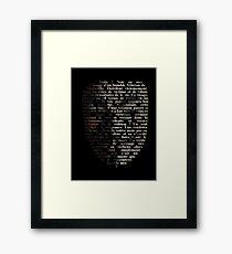 V for Vendetta - Appelle-moi V Framed Print