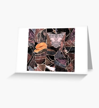 leather patches Greeting Card