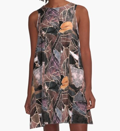 leather patches A-Line Dress