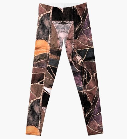 leather patches Leggings