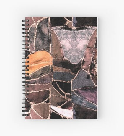 leather patches Spiral Notebook