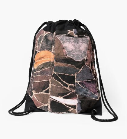 leather patches Drawstring Bag