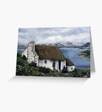 """Irish Cottage"" Greeting Card"
