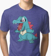 Totodile illustration Tri-blend T-Shirt
