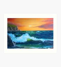 """Cliffs of Clare"" Art Print"