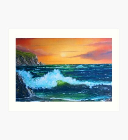 """Cliffs of Clare"" Art Print"