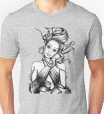 Girl with Octopus Unisex T-Shirt