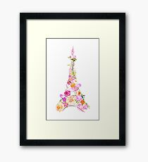 Floral Eiffel Tower Framed Print
