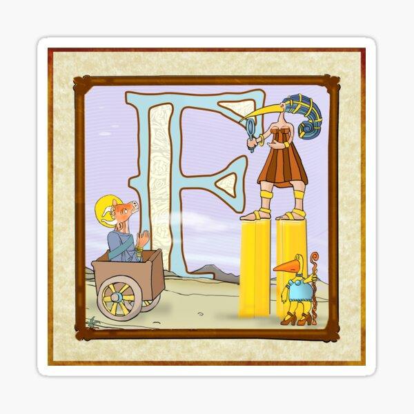F is for Farnsworth. Sticker