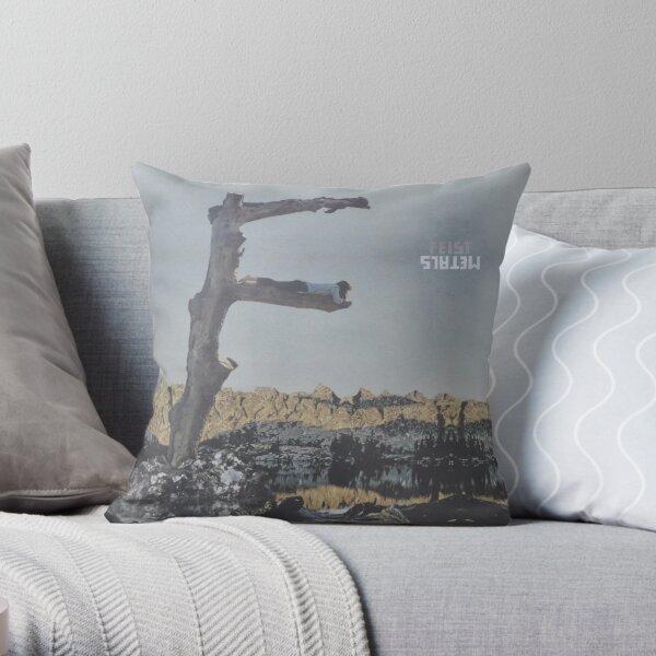 Feist - metals vinyl LP sleeve art - fanart Throw Pillow