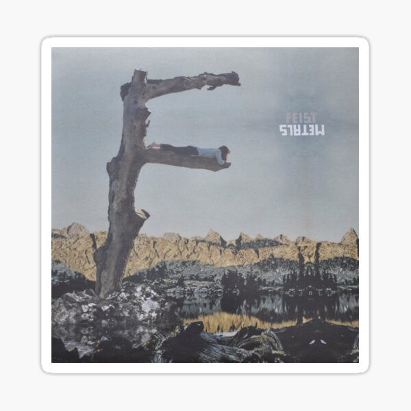 Feist - metals vinyl LP sleeve art - fanart Glossy Sticker