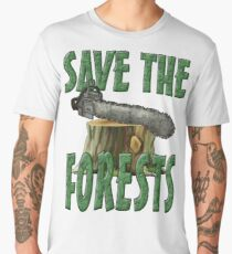 SAVE THE FORESTS Men's Premium T-Shirt