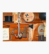 Gunpowder And A Tophat On A Shelf Photographic Print