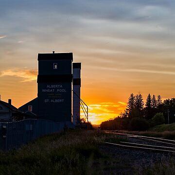 Sunset at the Elevator by PhotosbySylvia