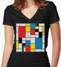 DE STIJL Women's Fitted V-Neck T-Shirt