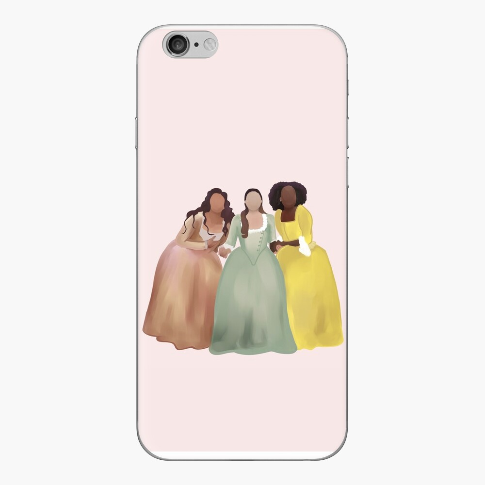 Rosa Schuyler-Schwestern - Hamilton Chicago iPhone Klebefolie