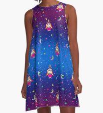 1997 Neon Rainbow Baphomet A-Line Dress