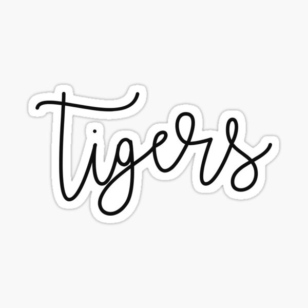 Tigers simple Sticker