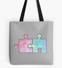watercolor - matching puzzles  Tote Bag