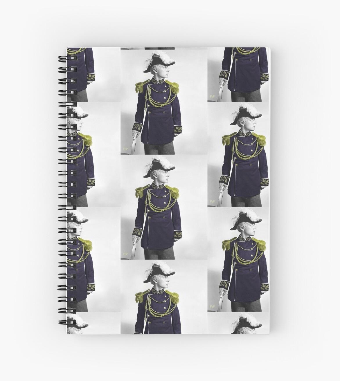 """Admiral Buster Keaton, Graphic Art Portrait"" Spiral"