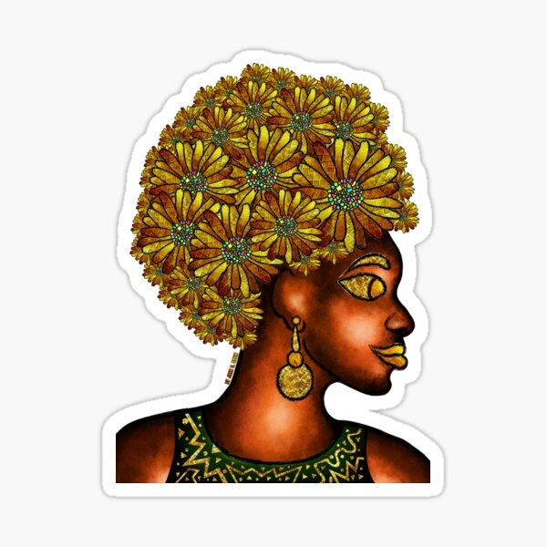 Golden Petals Sticker