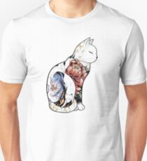 Kitsune Cat Tattoo  T-Shirt