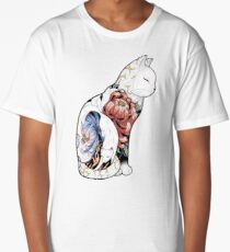 Kitsune Cat Tattoo  Long T-Shirt