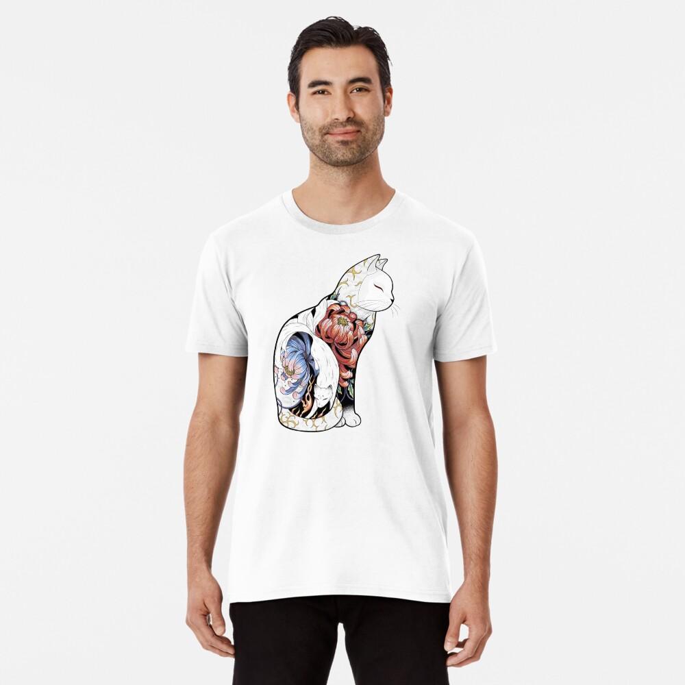 Kitsune Cat Tattoo  Premium T-Shirt