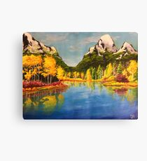 Landscape with yellow trees Canvas Print