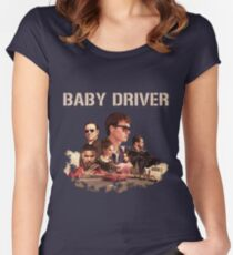 baby driver Women's Fitted Scoop T-Shirt