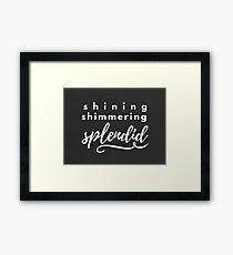 Aladdin Inspired Art: Shining Shimmering Splendid Framed Print