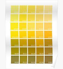Shades of Yellow Pantone Poster