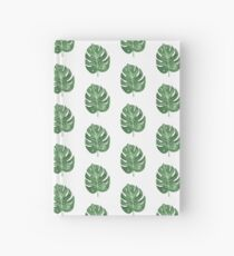 Green leaves nature watercolor Hardcover Journal