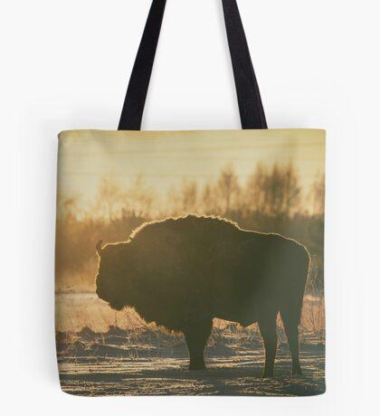 Bison Silhouette Tote Bag