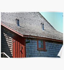 An Old Rustic Roof Poster